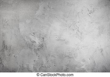 stuck, grå, gammal, vägg, skapande, färger, bakgrund, cement, neutral