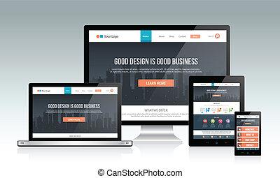 svars-, websajt, design