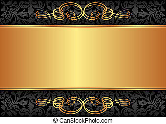 svart, guld, bakgrund