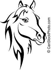 svarting bygelhäst, silhuett