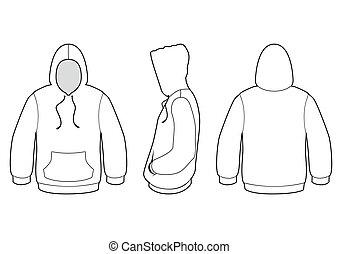 sweater, vektor, övertäck, illustration.