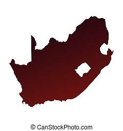 syd, karta, afrika