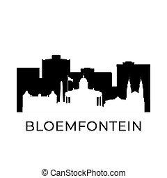 sydafrika, bloemfontein, stad, skyline.