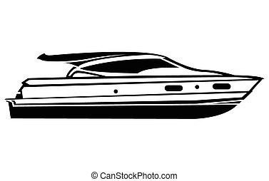 symbol, båt