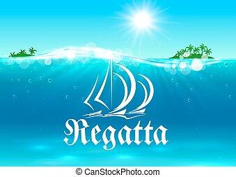 symbol, sport, segla, regatta