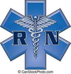 symbol, stjärna, rekommenderat sjukskötare