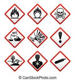 symboler, färsk, säkerhet