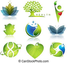 symboler, health-care, ekologi
