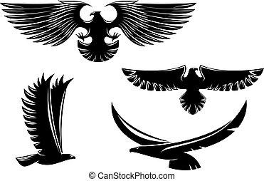 symboler, heraldik, örn, tatuera