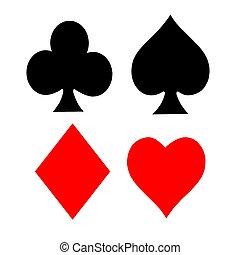 symboler, leka kortet