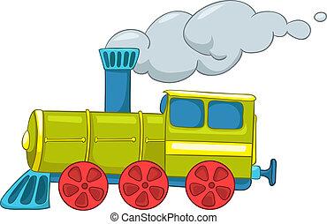 tåg, tecknad film