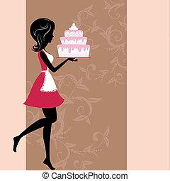 tårta, flicka