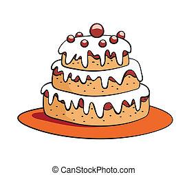 tårta, tecknad film