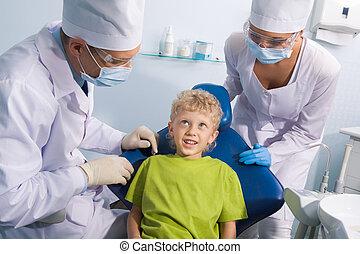 tandläkare, barn
