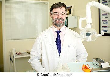 tandläkare, lycklig