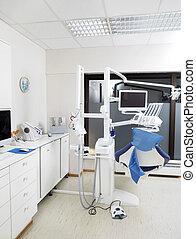 tandläkare, nymodig, stol