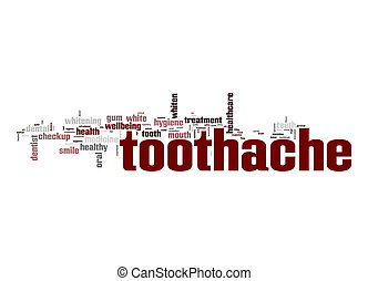 tandvärk, ord, moln