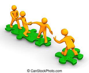 teamwork, hjälp
