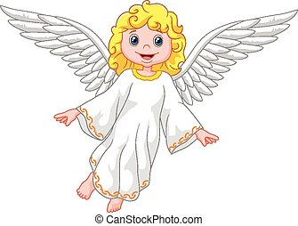 tecknad film, ängel