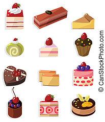 tecknad film, ikon, tårta