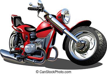 tecknad film, motorcykel