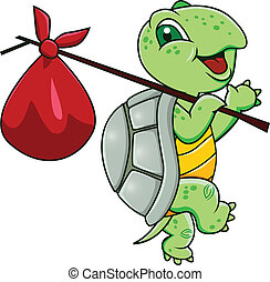 tecknad film, sköldpadda