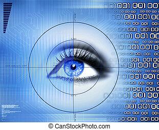 teknologi, visuell