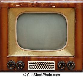 television färdig, gammal