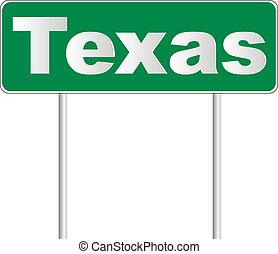texas, vägmärke
