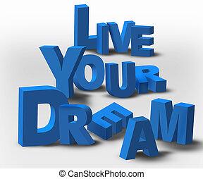 text, levande, meddelande, inspiration, dröm, din, 3