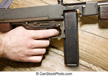 thompson, gun., klar, strid