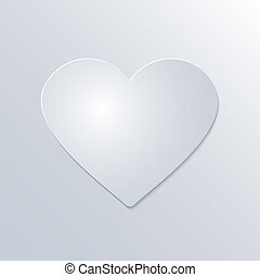 tidning hjärta, bakgrund, valentinkort, vit, dag
