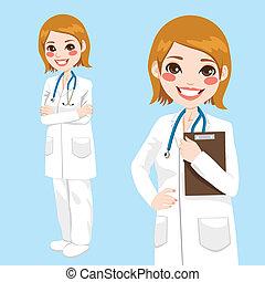 tillitsfull, kvinna läkare