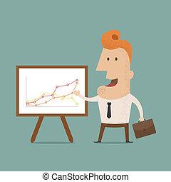 tillverkning, presentation, affärsman