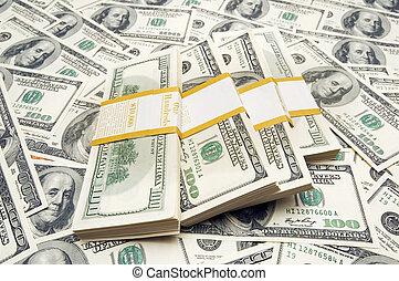 tio, pengar, tusen, dollar, bakgrund, buntar