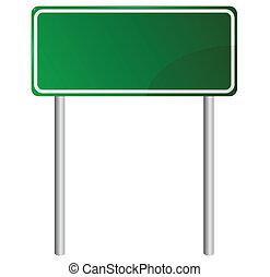 tom, grön, vägmärke