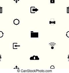 toolbar, mönster, icon., seamless, bakgrund