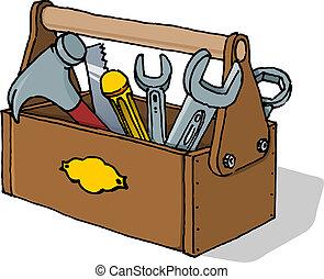 toolbox, vektor, illustration