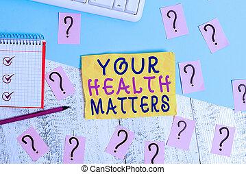 topp, vistelse, papper, redskapen, hälsa, matters., foto, klottra, din, affär, wellness, fysisk, visande, tabell., lämplig, showcasing, hälsosam, anteckna, skrift, viktigt, trä