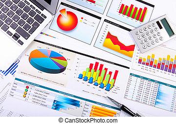 topplista, tabell., grafer, affär