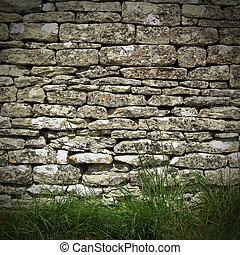 torka, vägg, sten
