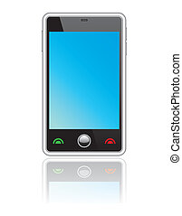 touchscreen, abstrakt, smartphone