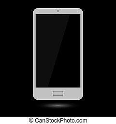touchscreen, grå, smartphone