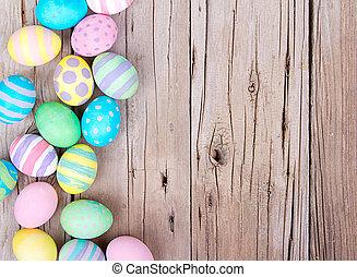 trä, ägg, påsk, bakgrund