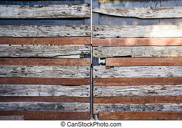 trä, abstrakt, dörr, bakgrund