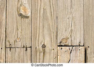 trä, grunge, fingernagel, gammal, golv