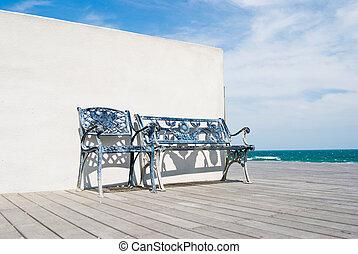 trä hyvelbänk, strand., golv