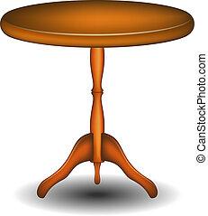 trä tabell, runda