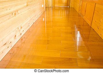 trä vägg, golv
