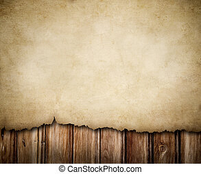 trä vägg, papper, grunge, bakgrund